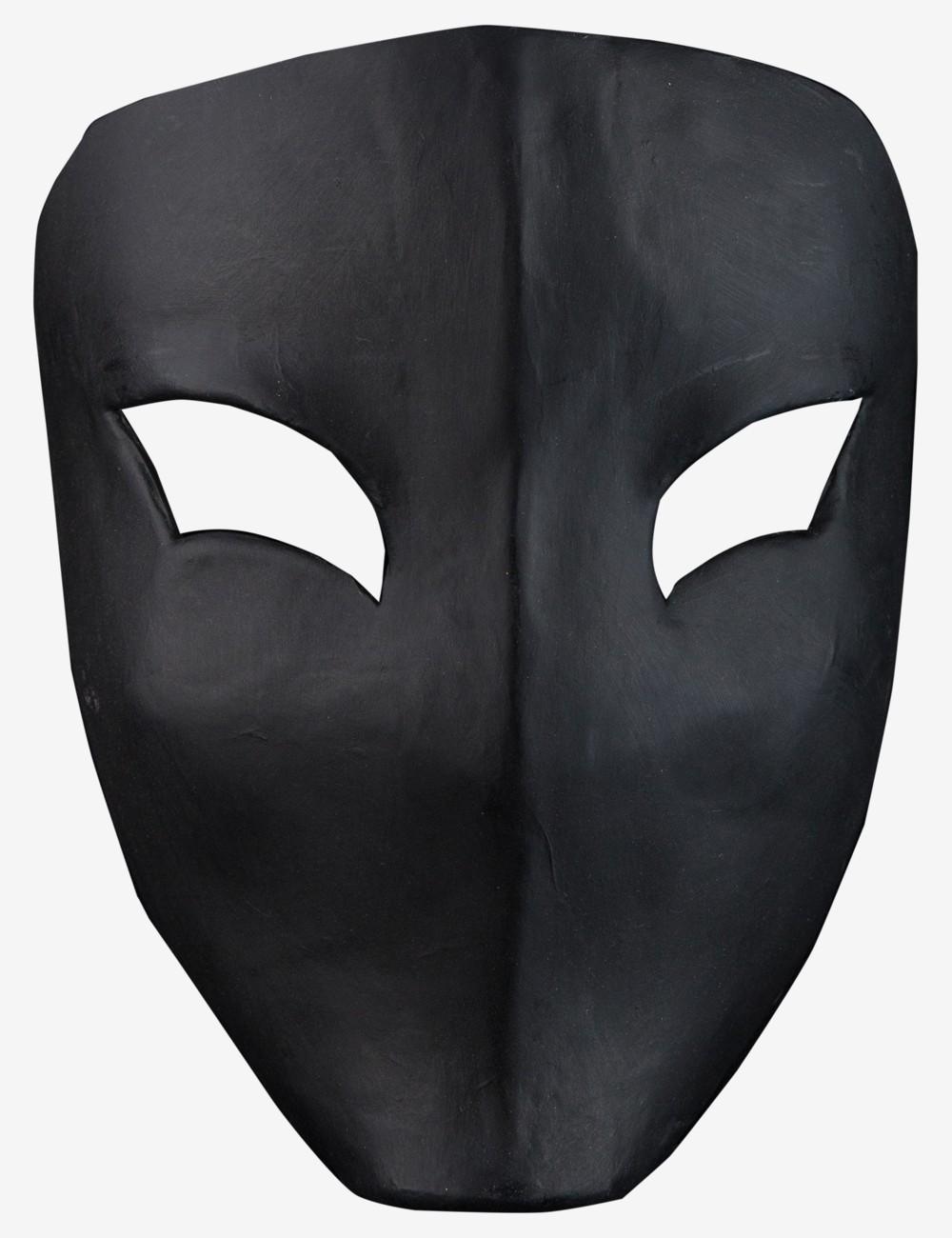 Masque de Carnaval Confectionné à Venise - Noir Vega