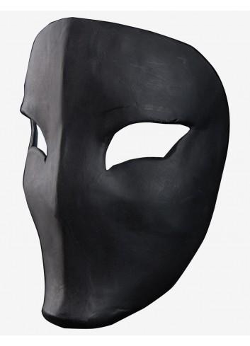 Noir Vega - Masque Vénitien en Papier Mâché