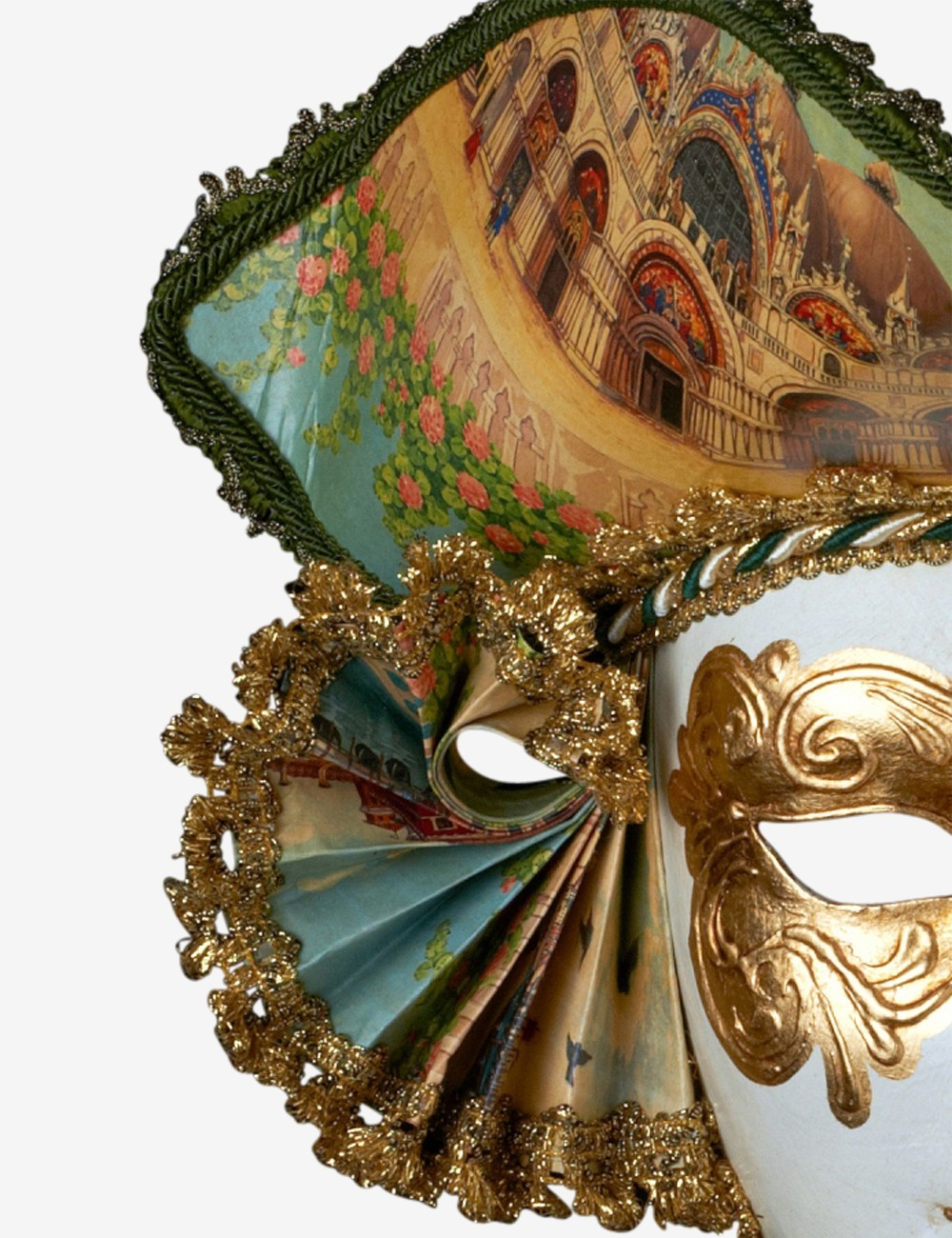 COLOMBINA Jolly velluto-vera veneziane maschera