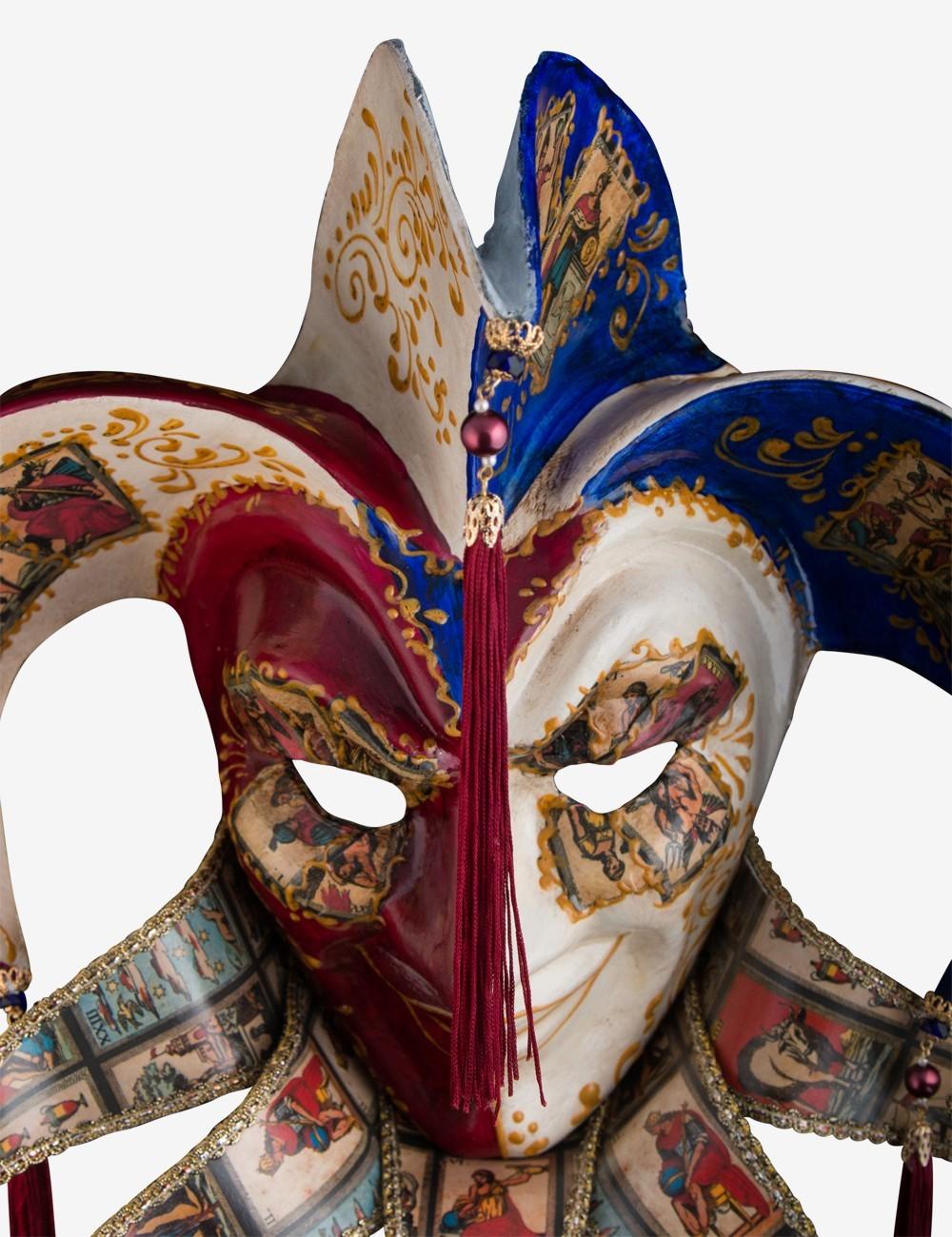 Masque Vénitien en Papier Mâché - Le Fou