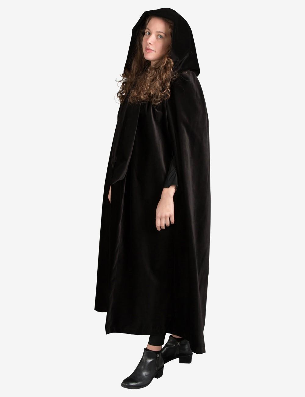 NEW Full Length Lined Deluxe Velvet Adults Cloak//Cape Hood Holloween Custome/'s