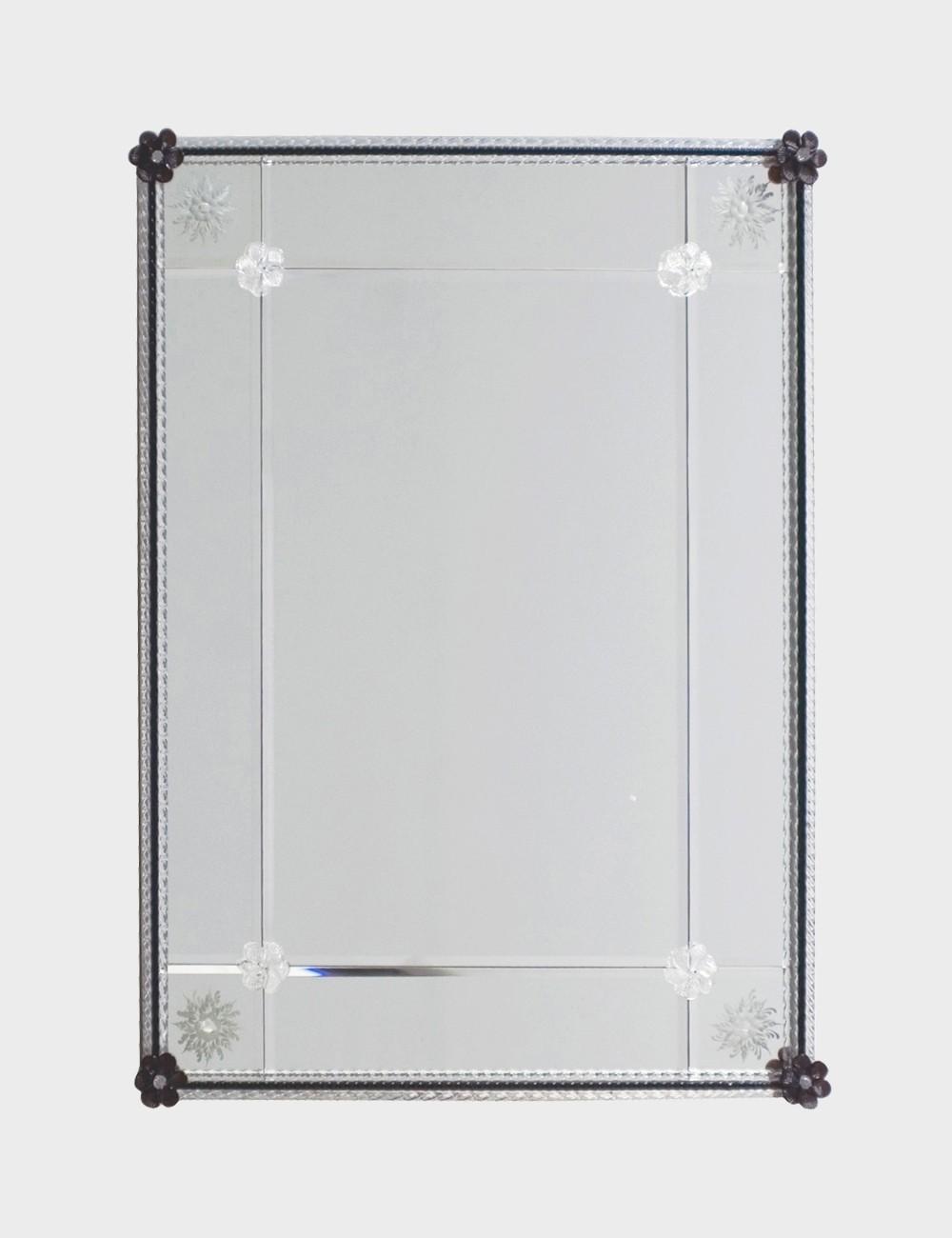 Venetian Murano Glass Mirror For Sale