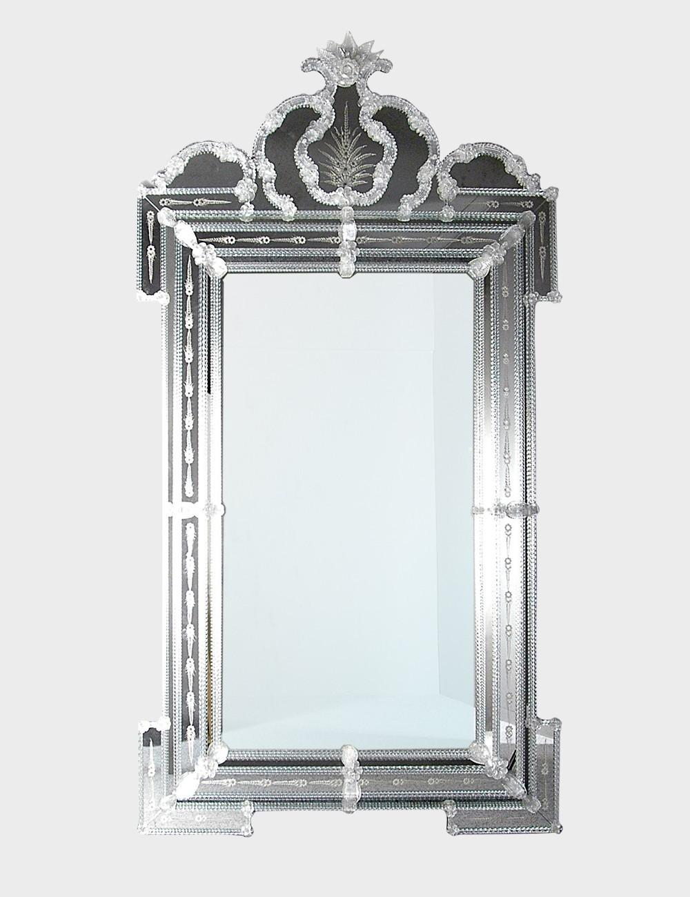 Luigi Xvi Venetian Mirror In Murano Glass