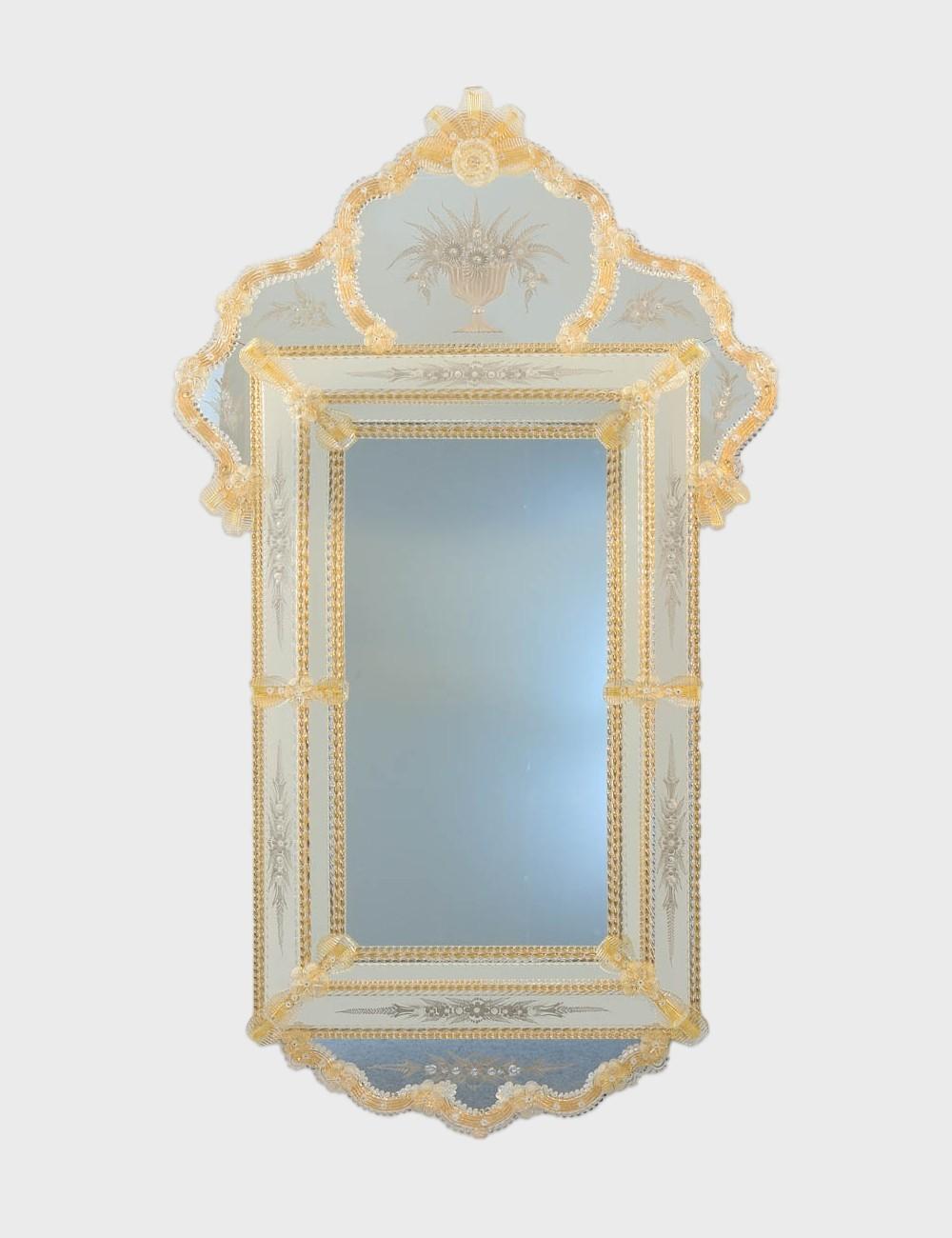 Salome Venetian Mirror In Murano Glass