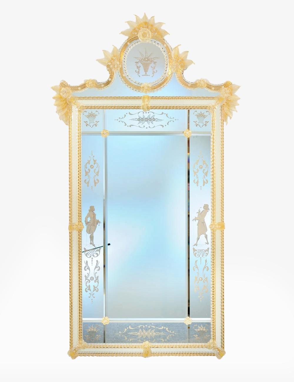 Lodoletta Venetian Mirror In Murano Glass