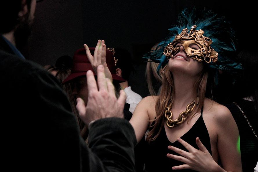 Venetian party masks